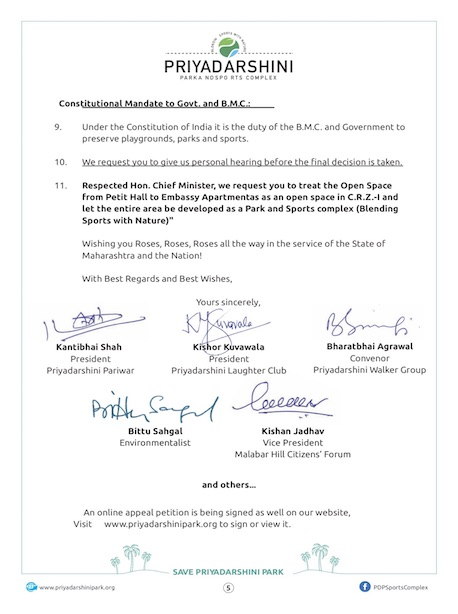 Letter to Chief Minister - Page 3